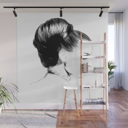 Woman Portrait Fashion Minimal Drawing Wall Mural