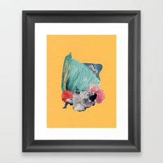 your cheeks are flush like rose petals Framed Art Print