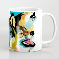 wolves Mugs featuring wolves by Alvaro Tapia Hidalgo