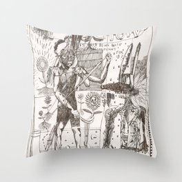 Defecto crow Throw Pillow