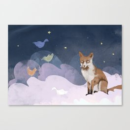 Fox Heaven Canvas Print