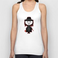 vendetta Tank Tops featuring Vendetta by Sombras Blancas Art & Design