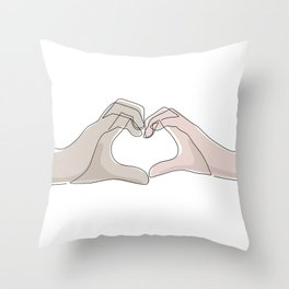 Hand Heart Shades Throw Pillow