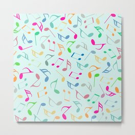 Music Colorful Notes Metal Print