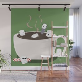Marshmallow Hot Tub Wall Mural