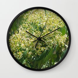 Flowers And Bees Wall Clock