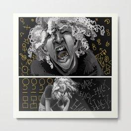 Cough Up Glyphs (aAa) Metal Print