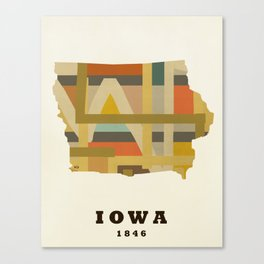 Iowa state map modern Canvas Print
