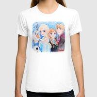 frozen T-shirts featuring Frozen by enerjax
