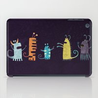 vegetarian iPad Cases featuring Secretly Vegetarian Monsters by Nic Squirrell