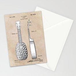 patent art Kamaka Ukulele 1927 Stationery Cards