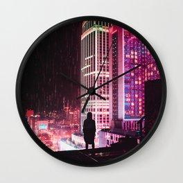 City Hall Rainy Night Wall Clock
