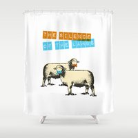 silence of the lambs Shower Curtains featuring The silence of the lambs by Marta Colomer