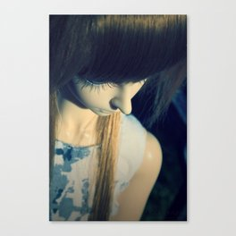 Thinking of a wish Canvas Print