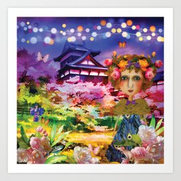 Himeji Castle Watercolour Art Print