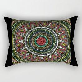 Colorful Mandala Rectangular Pillow