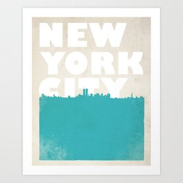 New York City Bold Skyline Art Print
