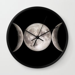 Triple Moon Wall Clock