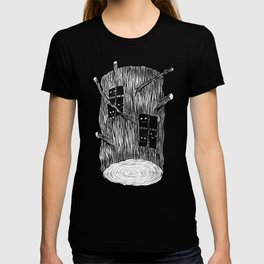 Mysterious Forest Creatures In Tree Log T-shirt