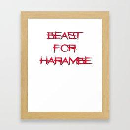 beast for harambe work out shirt Framed Art Print