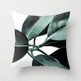 Minimal Rubber Plant Throw Pillow