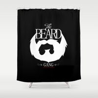the xx Shower Curtains featuring xX   BEARD GANG   Xx by Frankie White