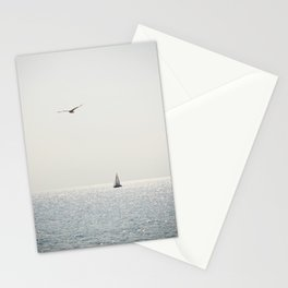 Fly over the sea Stationery Cards