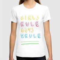 girl power T-shirts featuring Girl Power by Lovisa Valentino