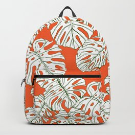 Hand drawing monstera Backpack