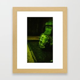 My head in thought. Framed Art Print
