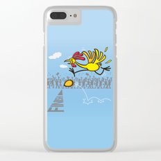 Chicken and egg, scrambled forever in an eternal tie? Clear iPhone Case