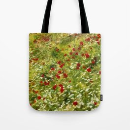 Impressionist Poppies Tote Bag