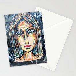 art street portrait Stationery Cards