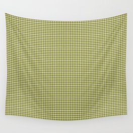 Olive Gingham Wall Tapestry