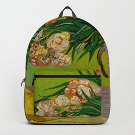 Oleanders Vincent van Gogh Oil On Canvas Floral Still Life Painting Backpack
