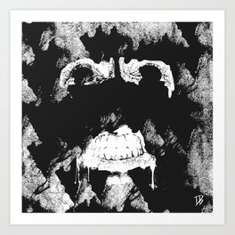 GNARLY FACE Art Print