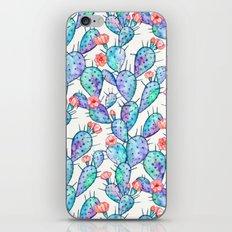 Rainbow Watercolor Cactus Pattern iPhone & iPod Skin
