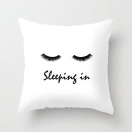 Sleeping In Throw Pillow
