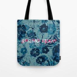 Spring Yeah! - Blue Flowers Tote Bag