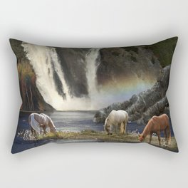 Waterfall Fantasy Herd Rectangular Pillow