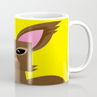 furry Mugs featuring Furry Kitty by Yay Paul