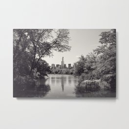 Central Park from Bow's Bridge Metal Print