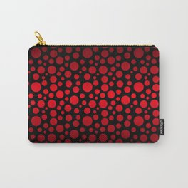 Red and Black Gradient Circles Carry-All Pouch