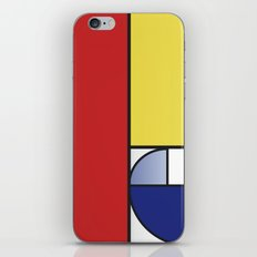 Mondrian vs Fibonacci iPhone & iPod Skin