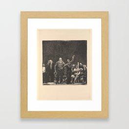 Introducing John L. Sullivan, George Bellows Framed Art Print