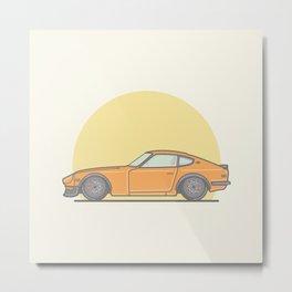 Datsun 240zx vector illustration Metal Print