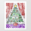 Coloured Christmas Tree by doodlingtogether