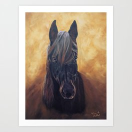 Friesian Spirit Art Print