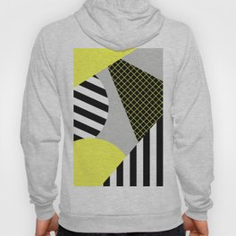 Eclectic Geometric - Yellow, Black And White Hoody