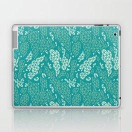 Teal Fragmented Fragments Laptop & iPad Skin